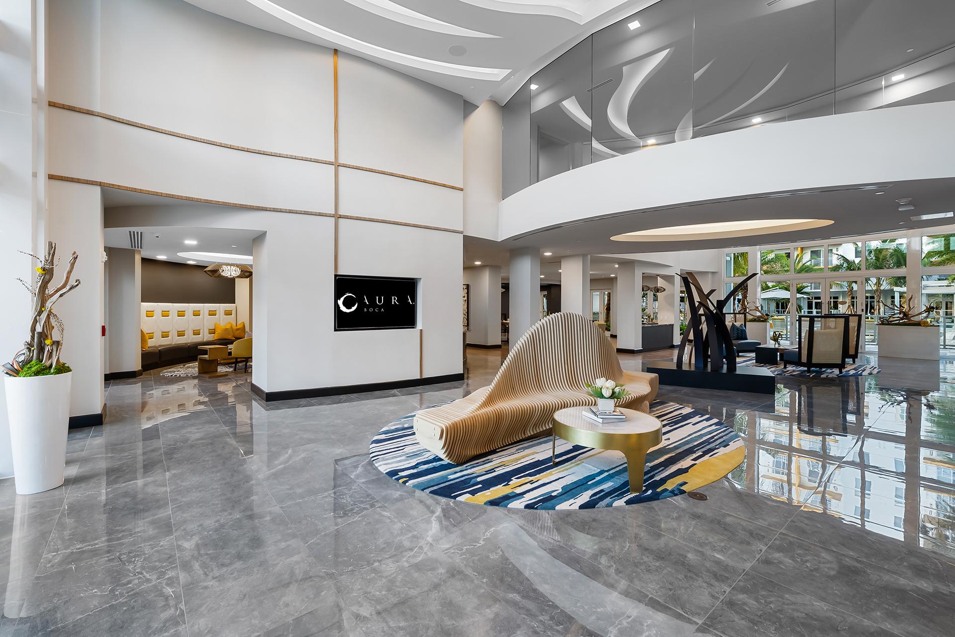 Aura Boca Apartments lobby