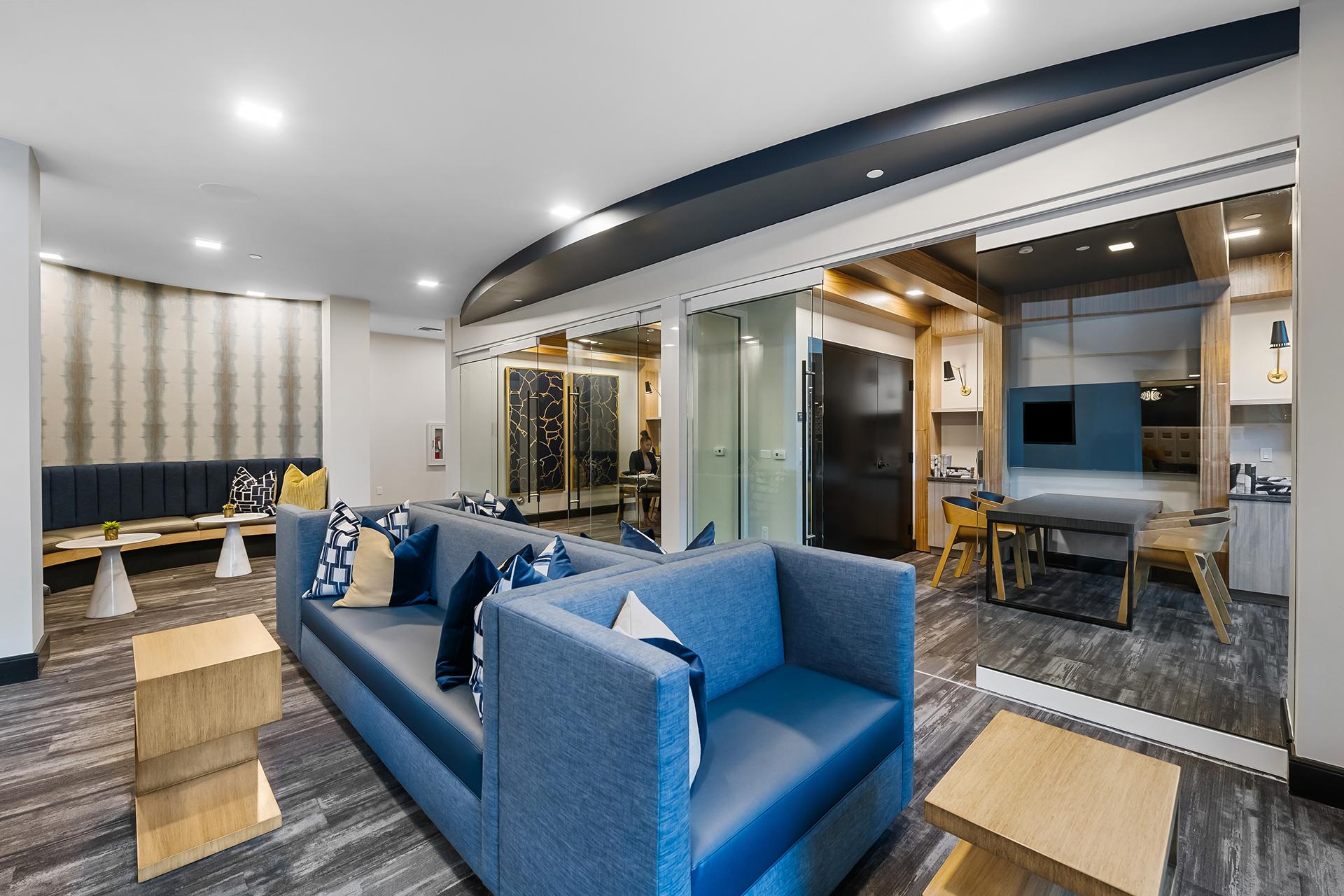 Aura Boca Apartments resident work spaces