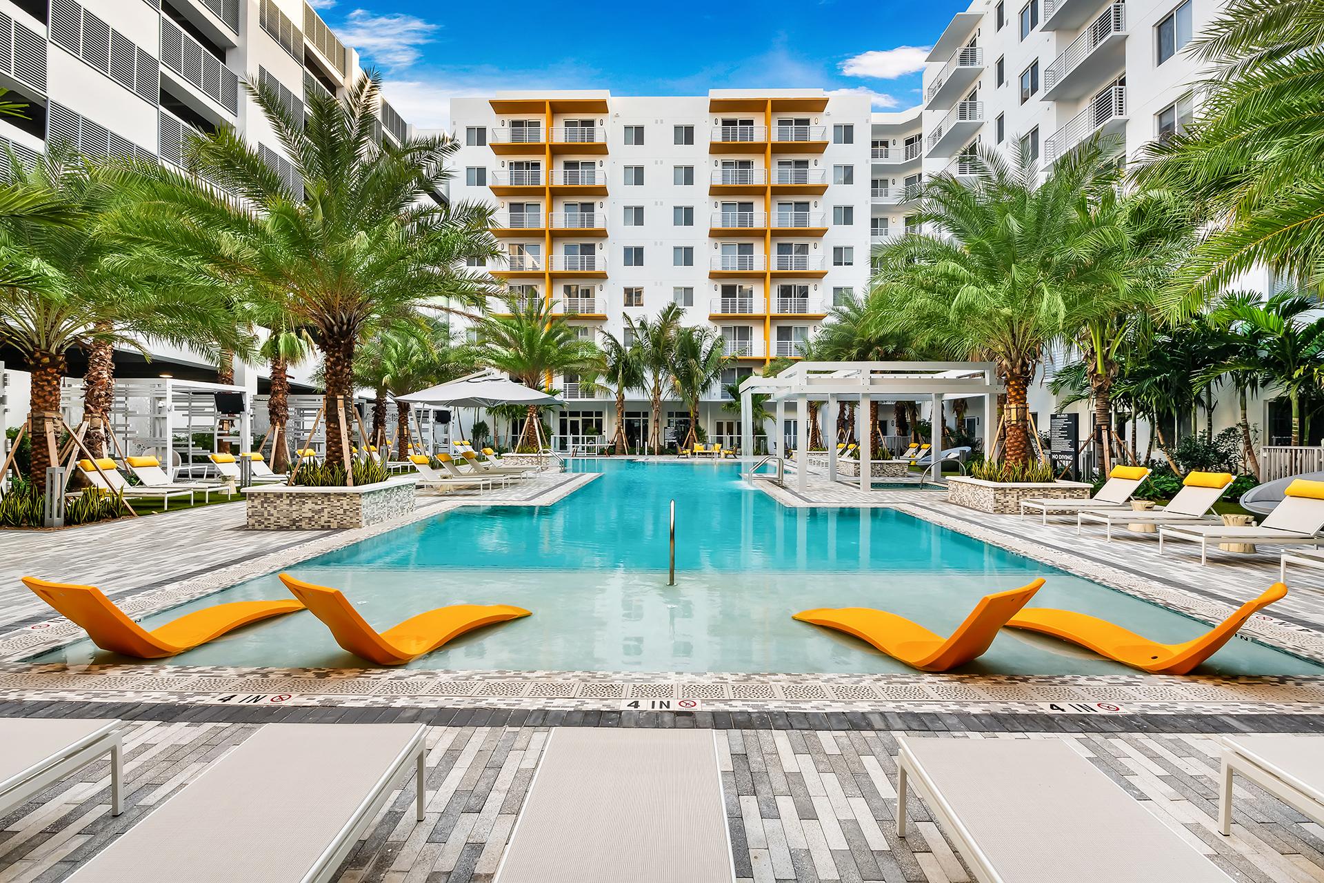 Aura Boca Apartments pool area